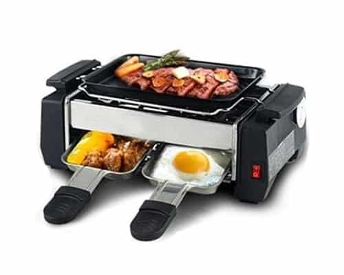 Pemanggang Makanan Terbaik Electric Barbeque Grill Set 3 Piringan