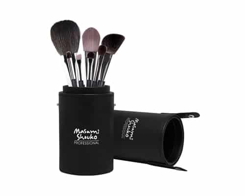 Gambar Makeup Brush Set Terbaik Masami Shouko Professional Double Fibre Brush Set with Large Holder