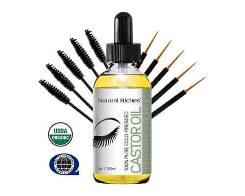Serum Bulu Mata Terbaik Natural Riches Pure Organic Castor Oil for Beautiful Lush Eyelashes & Eyebrows