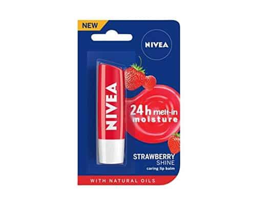Gambar Lip Balm Warna Nivea Strawberry Shine