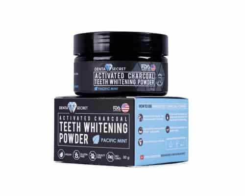 Pemutih Gigi Terbaik Denta Secret Charcoal Teeth Whitening Powder