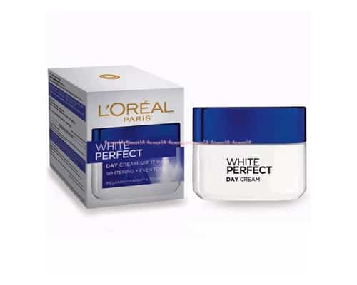 Krim Wajah Terbaik Merk L'Oreal Paris White Perfect Day Cream SPF 17 PA++