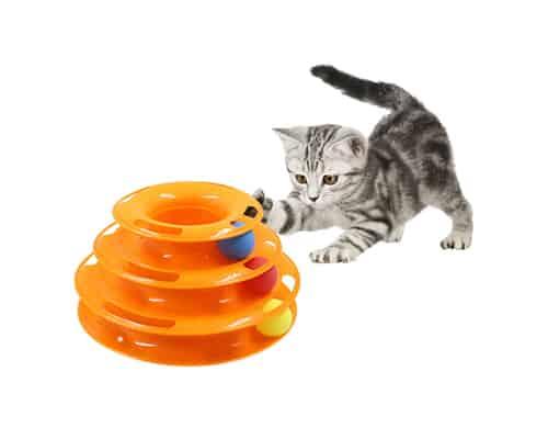 Mainan Kucing Bola Interaktif 3 Tingkat