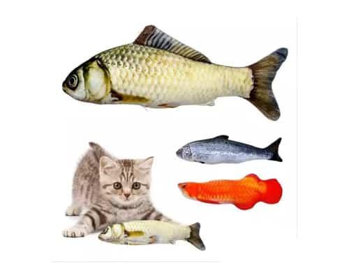 Mainan Kucing Boneka Ikan dengan Catnip