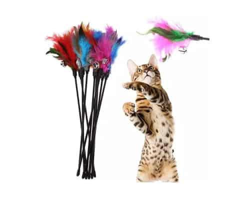 Mainan Kucing Bulu dan Lonceng