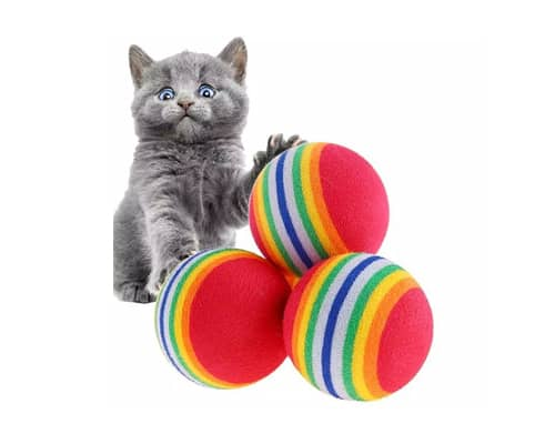 Mainan Kucing Rainbow Ball