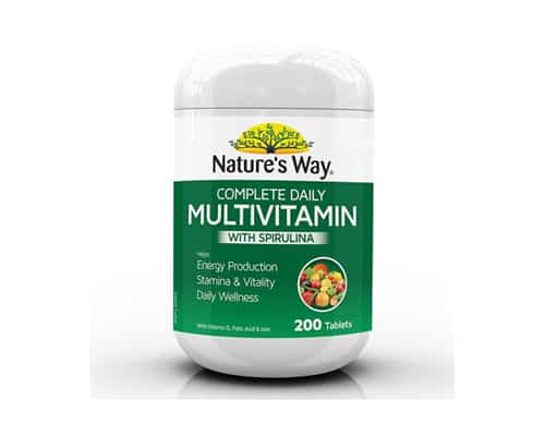 Natures Way Complete Daily Multivitamin With Spirulina