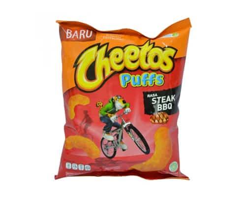 Makanan Ringan Cheetos Puffs BBQ Steak Flavor