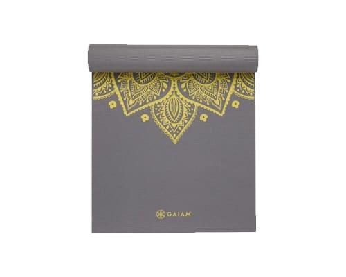 Matras Yoga Terbaik untuk Pemula Gaiam Premium Citron Sundial Yoga Mat