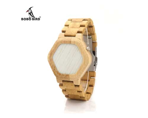 BOBO BIRD EO3 LED Digital Wood Case Watch Night Vision LED
