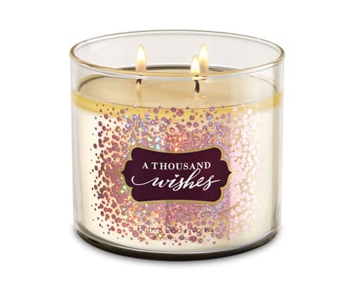 Lilin Aromaterapi Terbaik - Bath & Body Works A Thousand Wishes 3-Wick Candle