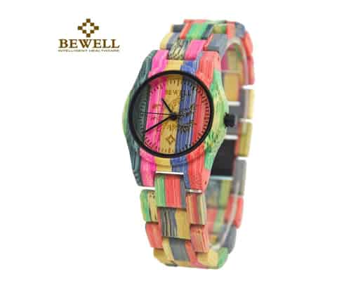 Bewell Princess Fashion Colored Bamboo Wooden Watch