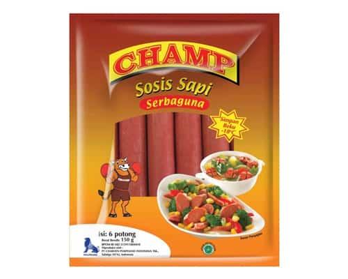 Champ Beef Sausages Serbaguna (150 gr) - Sosis Terbaik