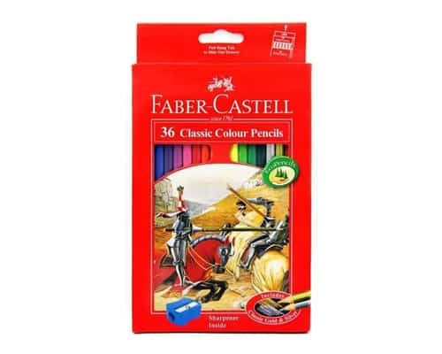 Faber-Castell 36 Classic Colour Pencils Long