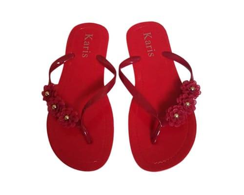 Sandal Pantai Terbaik untuk Wanita Karis Sandal Flip Flop Wanita Karakter Bunga A085-9