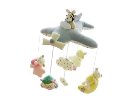 Shiloh Baby Crib Musical Mobile (Blue Plane)