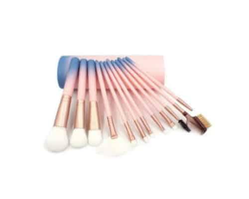 Hadiah ulang tahun untuk ibu Vienna Linz Gradation Monalisa Makeup Brush Set 12 Pcs with Case