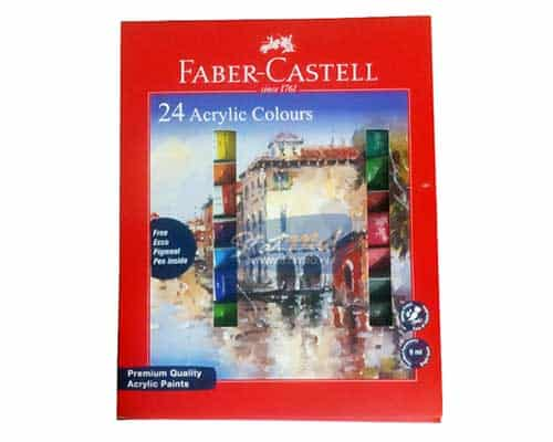 Faber-Castell 12 Acrylic Colours