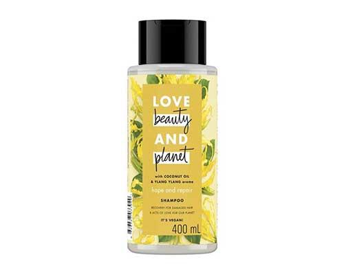 Shampo untuk Mengatasi Rambut Kering Love Beauty & Planet Hope And Repair
