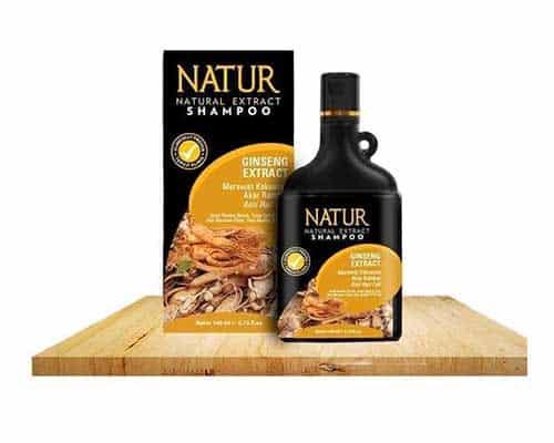 Shampo untuk Mengatasi Rambut Kering Natur Natural Extract Shampoo Ginseng Extract