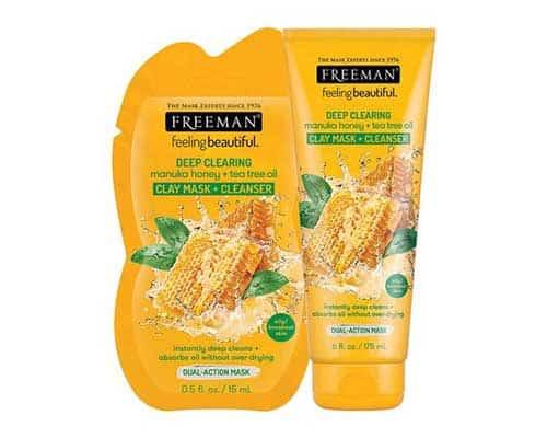 Masker Freeman Terbaik FreemanFeeling Beautiful Deep Clearing Manuka Honey + Tea Tree Oil
