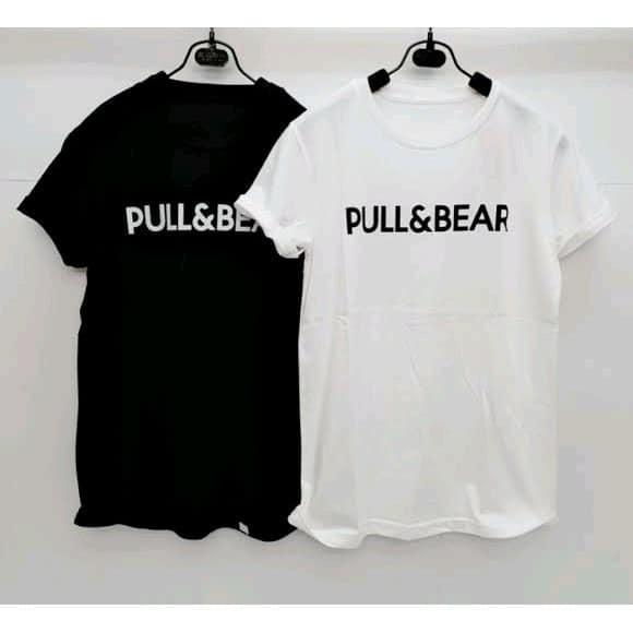 Kaos Basic Hitam Putih Pull and Bear