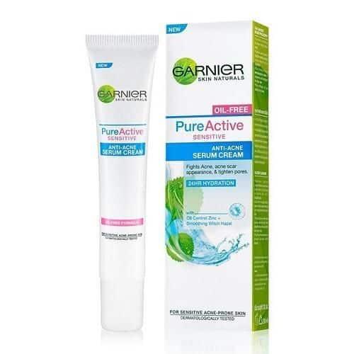 Penghilang Bekas Jerawat Garnier Sensitive Anti-Acne Serum Cream