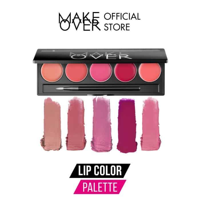 Kado Ulang Tahun untuk Shabat Wanita MAKE OVER Lip Color Palette 01 Retro Red