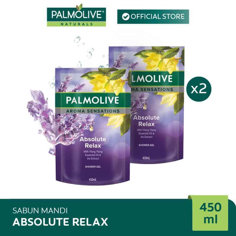 Kado Ulang Tahun untuk Shabat Wanita Palmolive Aromatheraphy Absolute Relax Shower Gel Sabun Mandi 450 ml