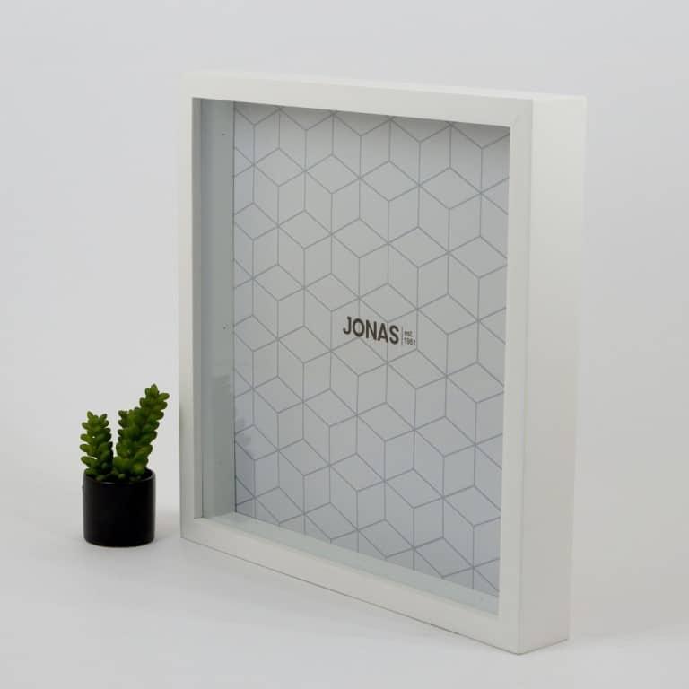 Kado Ulang Tahun untuk Shabat Wanita JONAS Bingkai 30x30 3D Scrapbook Putih Frame Foto TD02P