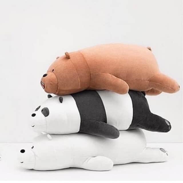Boneka Miniso Terbaik Miniso We Bears Bare Lying Plush Toy