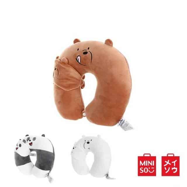 Katalog Produk Miniso Terbaik - Miniso Bantal Leher & Penutup Mata We Bare Bear
