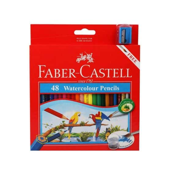 Hadiah Ulang Tahun untuk Anak Faber Castell 48 Watercolour Pencil Parrot