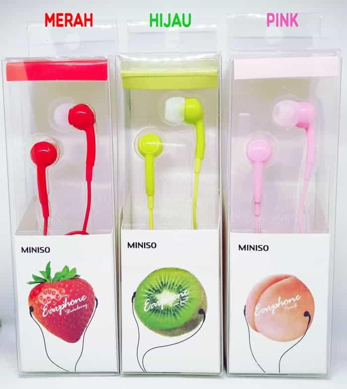 Katalog Produk Miniso Terbaik - Miniso Earphone Fruit Series