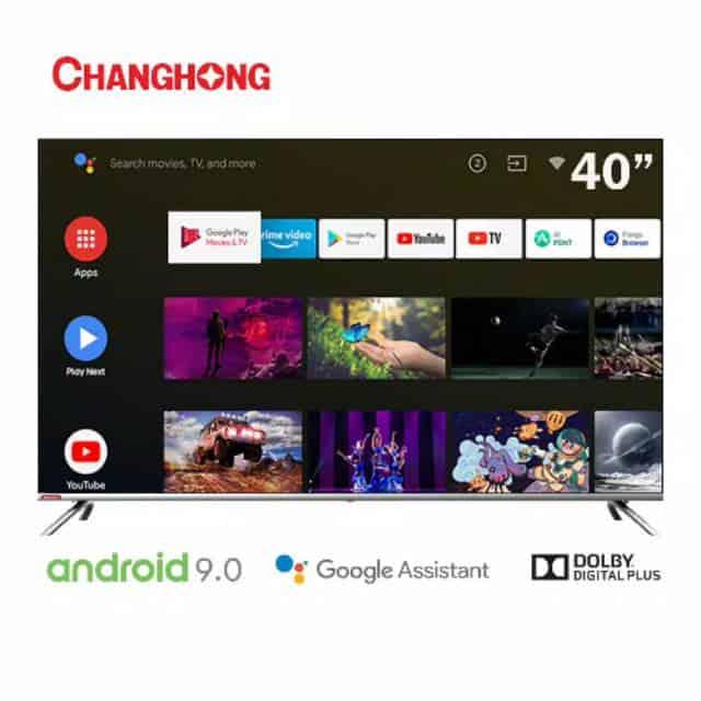 5. Smart Tv Terbaik 3 Juta : Changhong Google Certified Android Smart TV 40 Inch 40H7 LED TV-L40H7