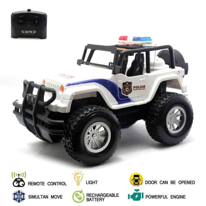Hadiah Ulang Tahun untuk Anak Mainan Mobil Remote Control RC Monster Jeep Truck