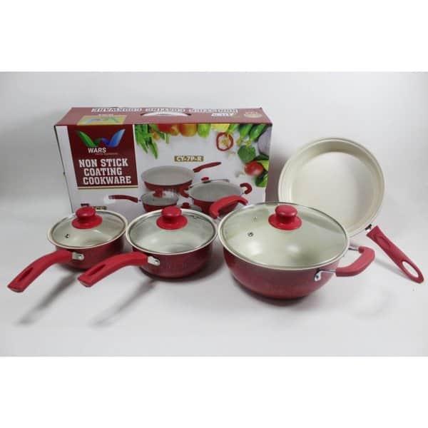 8. Iluva 7 Pcs Stick Cookware Set