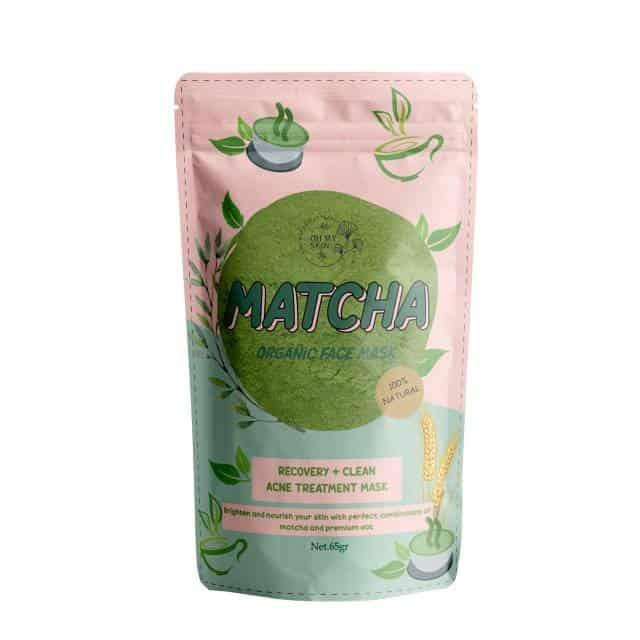Masker Organik Terbaik Matcha Organic Face Mask Oh My Skin