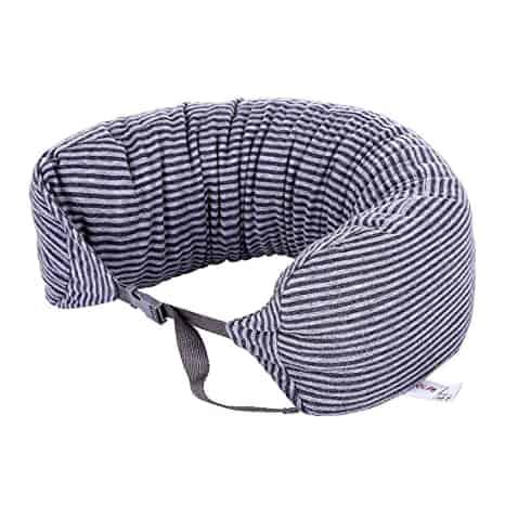 Bantal Leher Miniso Terbaik Miniso Simple Stripe Neck Pillow