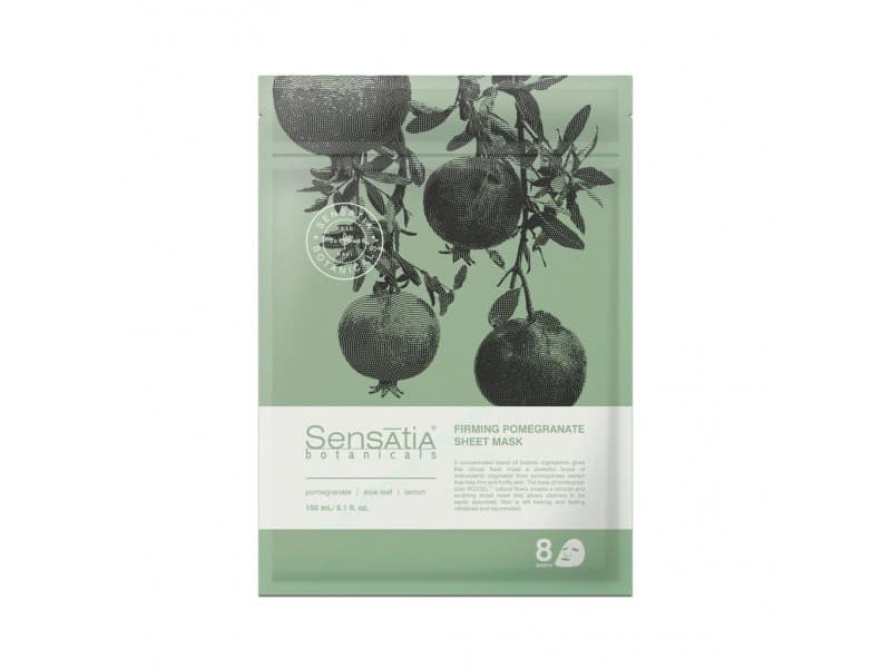 Masker Organik Terbaik Sensatia Botanicals Firming Pomegranate Sheet Mask