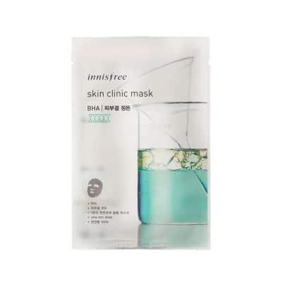 Sheet Mask Terbaik Innisfree skin clinic mask (BHA)