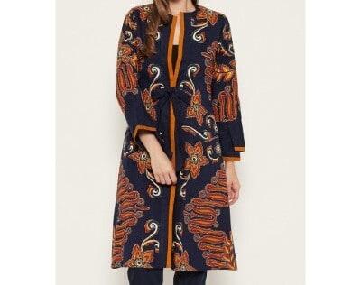 Baju Batik Wanita Batik Terbaik Semar Aima Outer vis - Sulur Suroloyo - Navy