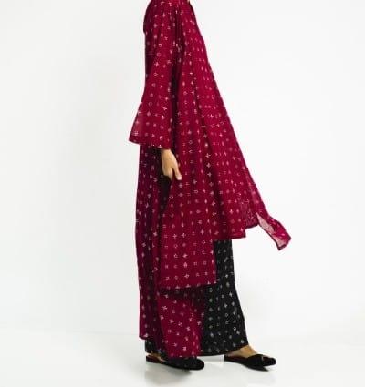 Baju Batik Wanita Terbaik Sejauh Mata Memandang Kebaya Puan Wiji Maroon