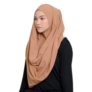 Hijab Instan Terbaru Terbaik Meccanism Aria Diamond Crepe