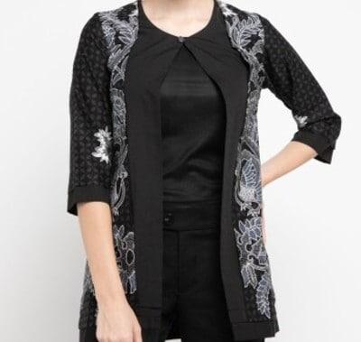 Baju Batik Wanita Terbaik Rianty Batik Cardigan Arsenia