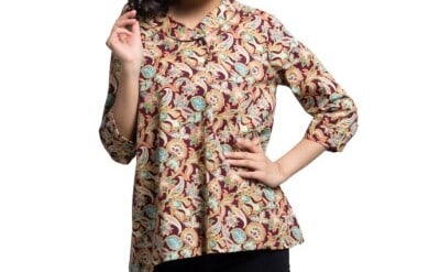 Baju Batik Wanita Terbaik Bateeq Blouse Cotton Print FW036-18