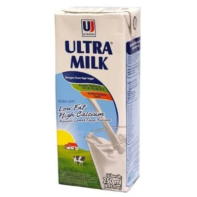 Susu Peninggi Badan Terbaik Ultra Milk Low Fat High Calcium
