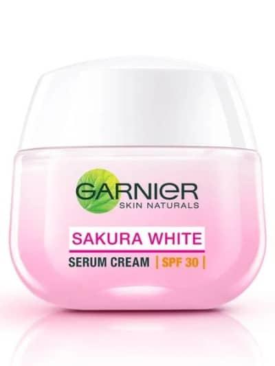 Pelembab Wajah untuk Kulit Kering Terbaik Garnier Sakura White Serum Cream