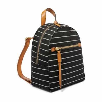 Tas Ransel Wanita Terbaik Fossil megan backpack black and white