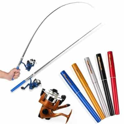 Joran Pancing Terbaik Joran pancing aluminium mini pen fishing